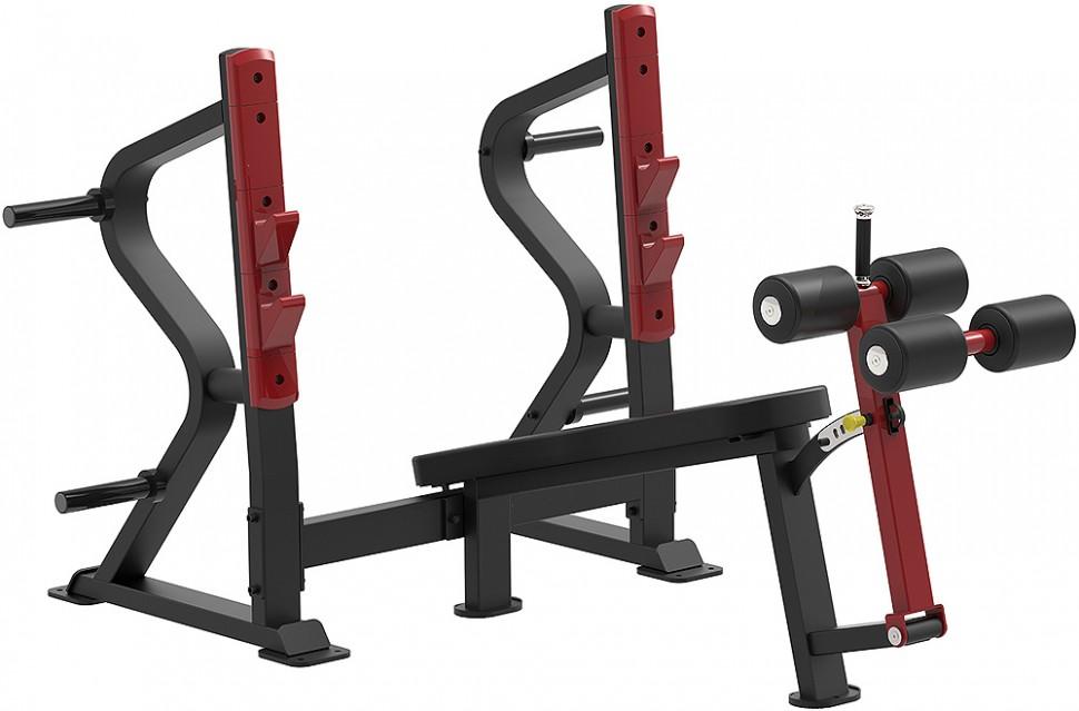 Олимпийская скамья с отрицательным наклоном для жима AeroFIT Sterling SL7030