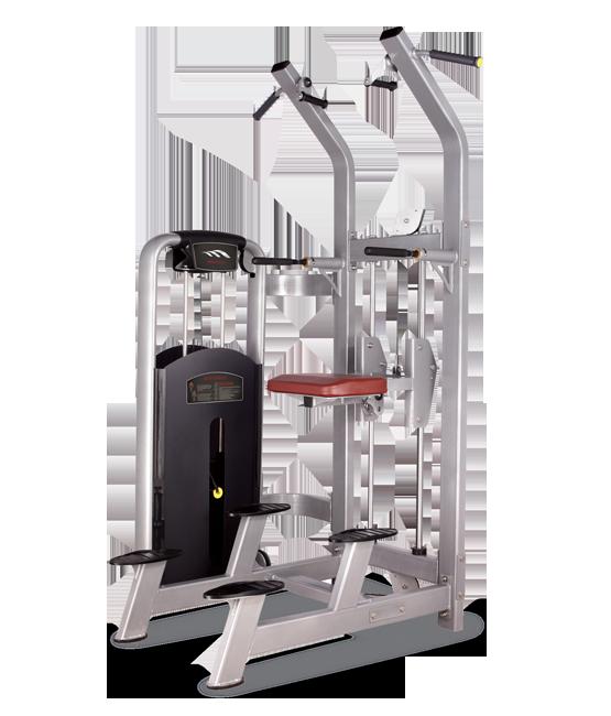 Грузоблочный тренажер Турник/брусья с противовесом Bronze Gym MV-008